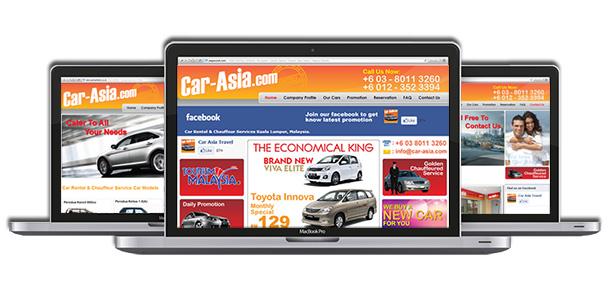 Website Design For Car Asia Travel Car Rental Services