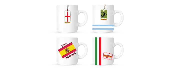 Promotional Gifts Design For Indo Cafe Soccer Mug