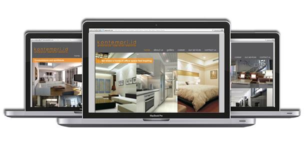 Website Design For kontempri id Interior