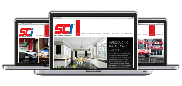 Website Design For SCI Kitchen Cabinet