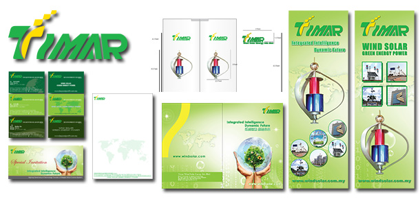 Corporate Branding Design For Timar Wind Solar Energy