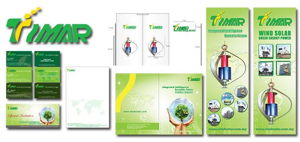Corporate Branding Design For Timar Wind Solar Energy