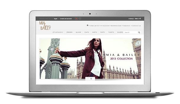 Website Design For Mia & Bailey Online Fashion Boutique