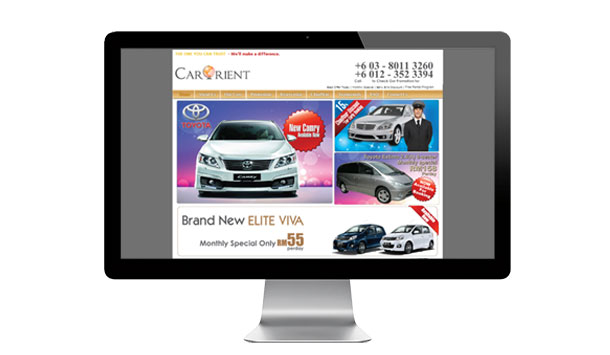 Website Design For Car Orient Travel Malaysia Car Rental Services