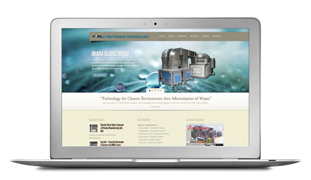 Website Design For WaTTersonTech Wastewater Treatment
