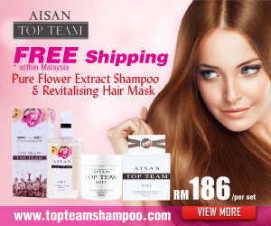 Aisan Top Team Shampoo - Silicone Free Hair Care Shampoo & Conditioner Malaysia